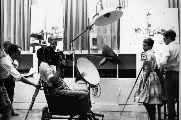 """Jeano-Luco Godard'o """"Iki paskutinio atodūsio"""" (1960) filmavimo akimirka"""