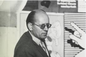Jonas Mekas ir Vytautas Baniulis Lietuvos kino mėgėjų draugijoje, 1971 m.