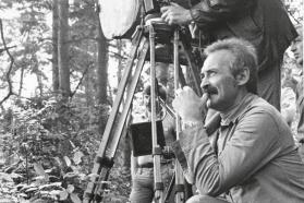 """Almantas Grikevičius filmuojant """"Faktą"""", 1979 m."""