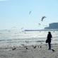 Odesa, apledėjęs Arkadijos paplūdimys